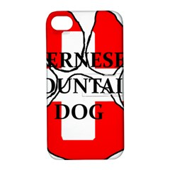 Ber Mt Dog Name Paw Switzerland Flag Apple iPhone 4/4S Hardshell Case with Stand