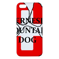Ber Mt Dog Name Paw Switzerland Flag Apple iPhone 5 Premium Hardshell Case