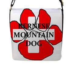 Ber Mt Dog Name Paw Switzerland Flag Flap Messenger Bag (L)