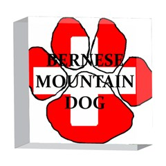Ber Mt Dog Name Paw Switzerland Flag 5  x 5  Acrylic Photo Blocks