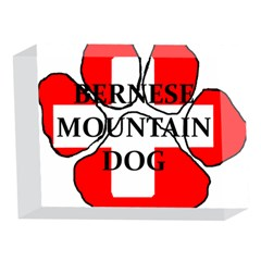 Ber Mt Dog Name Paw Switzerland Flag 5 x 7  Acrylic Photo Blocks