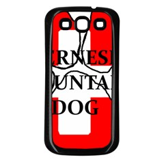Ber Mt Dog Name Paw Switzerland Flag Samsung Galaxy S3 Back Case (Black)
