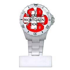 Ber Mt Dog Name Paw Switzerland Flag Plastic Nurses Watch