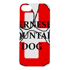 Ber Mt Dog Name Paw Switzerland Flag Apple iPhone 5S/ SE Hardshell Case