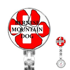 Ber Mt Dog Name Paw Switzerland Flag Stainless Steel Nurses Watch