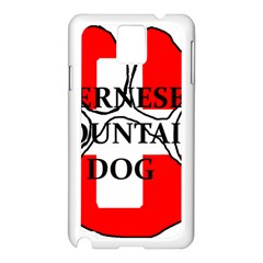 Ber Mt Dog Name Paw Switzerland Flag Samsung Galaxy Note 3 N9005 Case (White)
