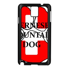 Ber Mt Dog Name Paw Switzerland Flag Samsung Galaxy Note 3 N9005 Case (Black)