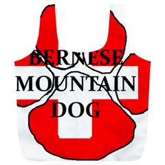 Ber Mt Dog Name Paw Switzerland Flag Full Print Recycle Bags (L)