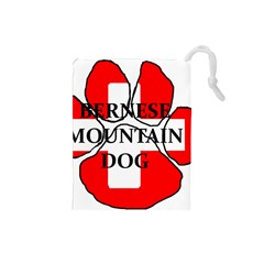 Ber Mt Dog Name Paw Switzerland Flag Drawstring Pouches (Small)
