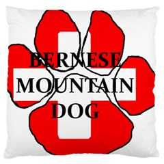 Ber Mt Dog Name Paw Switzerland Flag Large Flano Cushion Case (One Side)