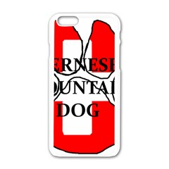 Ber Mt Dog Name Paw Switzerland Flag Apple iPhone 6/6S White Enamel Case