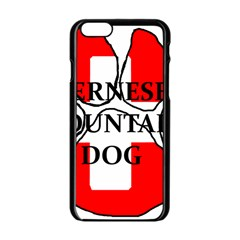 Ber Mt Dog Name Paw Switzerland Flag Apple iPhone 6/6S Black Enamel Case