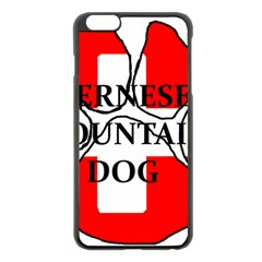Ber Mt Dog Name Paw Switzerland Flag Apple iPhone 6 Plus/6S Plus Black Enamel Case