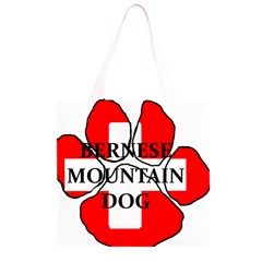 Ber Mt Dog Name Paw Switzerland Flag Grocery Light Tote Bag