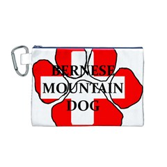 Ber Mt Dog Name Paw Switzerland Flag Canvas Cosmetic Bag (M)