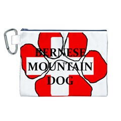 Ber Mt Dog Name Paw Switzerland Flag Canvas Cosmetic Bag (L)