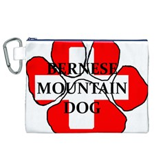 Ber Mt Dog Name Paw Switzerland Flag Canvas Cosmetic Bag (XL)