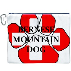 Ber Mt Dog Name Paw Switzerland Flag Canvas Cosmetic Bag (XXXL)