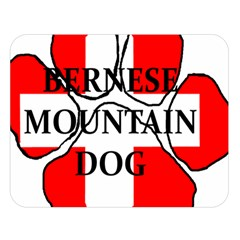 Ber Mt Dog Name Paw Switzerland Flag Double Sided Flano Blanket (Large)
