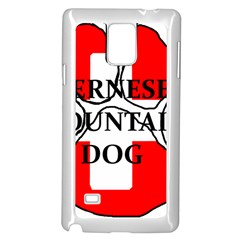 Ber Mt Dog Name Paw Switzerland Flag Samsung Galaxy Note 4 Case (White)