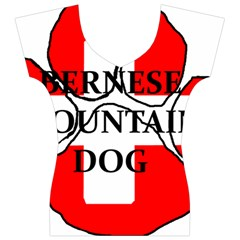 Ber Mt Dog Name Paw Switzerland Flag Women s V-Neck Cap Sleeve Top