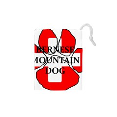 Ber Mt Dog Name Paw Switzerland Flag Drawstring Pouches (XS)