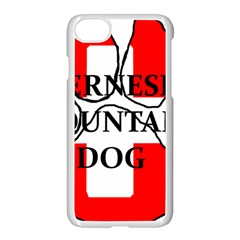 Ber Mt Dog Name Paw Switzerland Flag Apple iPhone 7 Seamless Case (White)