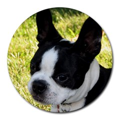 Boston Terrier Puppy Round Mousepads