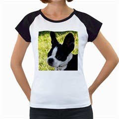 Boston Terrier Puppy Women s Cap Sleeve T
