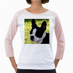 Boston Terrier Puppy Girly Raglans