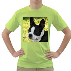Boston Terrier Puppy Green T-Shirt