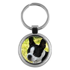 Boston Terrier Puppy Key Chains (Round)