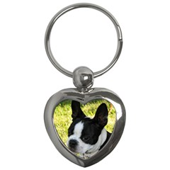 Boston Terrier Puppy Key Chains (Heart)