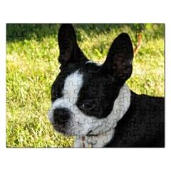 Boston Terrier Puppy Rectangular Jigsaw Puzzl