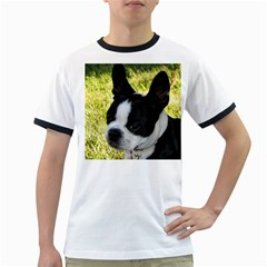Boston Terrier Puppy Ringer T-Shirts