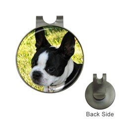 Boston Terrier Puppy Hat Clips with Golf Markers