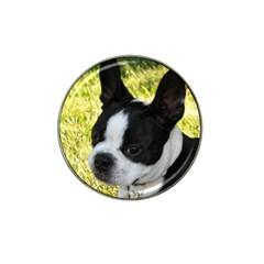 Boston Terrier Puppy Hat Clip Ball Marker