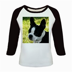 Boston Terrier Puppy Kids Baseball Jerseys