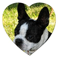 Boston Terrier Puppy Jigsaw Puzzle (Heart)
