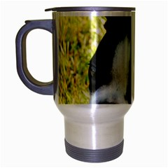 Boston Terrier Puppy Travel Mug (Silver Gray)