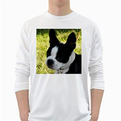 Boston Terrier Puppy White Long Sleeve T-Shirts