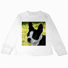 Boston Terrier Puppy Kids Long Sleeve T-Shirts