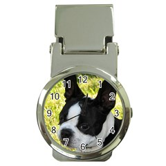 Boston Terrier Puppy Money Clip Watches