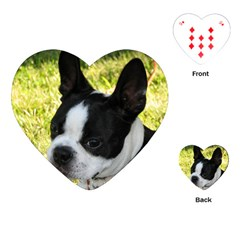 Boston Terrier Puppy Playing Cards (Heart)