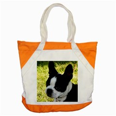 Boston Terrier Puppy Accent Tote Bag