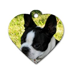 Boston Terrier Puppy Dog Tag Heart (Two Sides)
