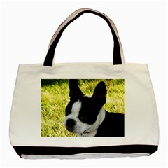 Boston Terrier Puppy Basic Tote Bag (Two Sides)