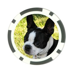 Boston Terrier Puppy Poker Chip Card Guards