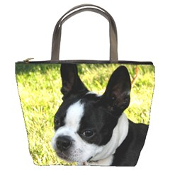 Boston Terrier Puppy Bucket Bags