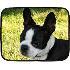 Boston Terrier Puppy Fleece Blanket (Mini)